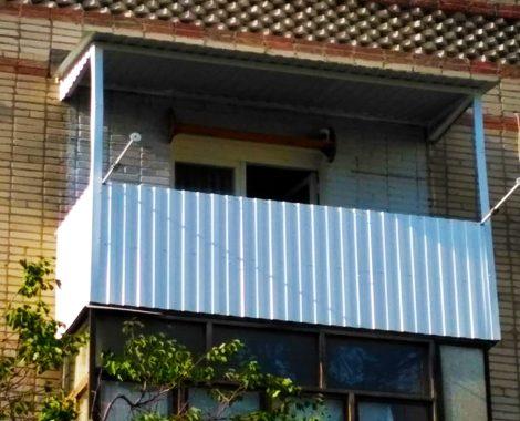 наружная обшивка балкона профлист